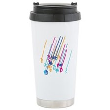 Sword salute in colour Travel Mug
