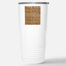 Woven Wicker Basket Stainless Steel Travel Mug