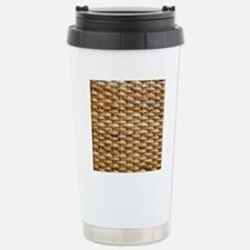 Woven Wicker Basket Travel Mug