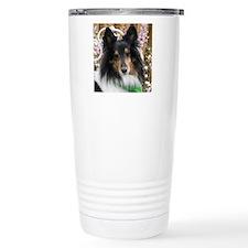 Tricolor Shetland Sheep Travel Coffee Mug