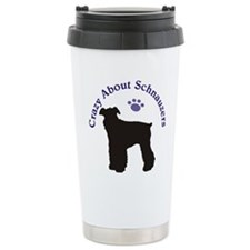 Crazy About Schnauzers Travel Mug