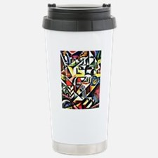 Cubist Cityscape - Liub Stainless Steel Travel Mug