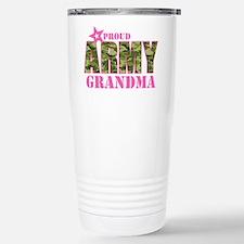 Camo Proud Army Grandma Stainless Steel Travel Mug