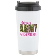 Camo Proud Army Grandma Travel Mug
