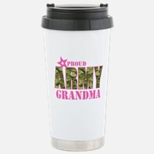 Camo Proud Army Grandma Travel Mug