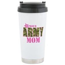 Camo Proud Army Mom Travel Mug