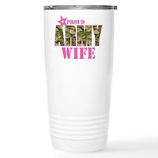 Camo Proud Army Wife Thermos Mug