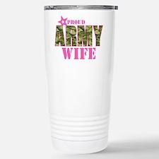 Camo Proud Army Wife Travel Mug
