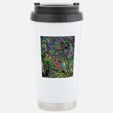 Psychedelic colors melt Stainless Steel Travel Mug