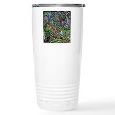 Psychedelic colors melt Travel Mug