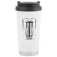 Art Deco Nikola Tesla Travel Mug
