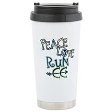 Peace Love Run CC Travel Mug