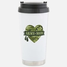 Camo Heart Army Mom Stainless Steel Travel Mug