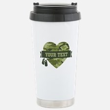 PD Army Camo Heart Stainless Steel Travel Mug