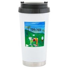 Golf 19th hole art Travel Coffee Mug