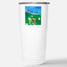 Golf 19th hole art Travel Mug