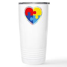 Autism Puzzle Heart Travel Mug