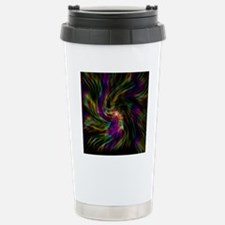 Trippy psychedelic rain Stainless Steel Travel Mug