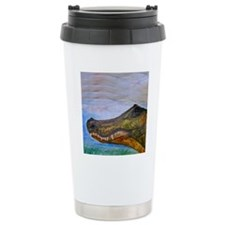 Alligator Head Art Travel Mug