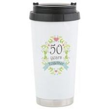 50th Anniversary flower Travel Mug