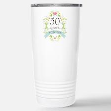50th Anniversary flower Travel Mug