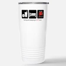 Eat Sleep OPTIonal Stainless Steel Travel Mug