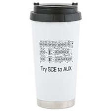 Try SCE to AUX. Travel Mug