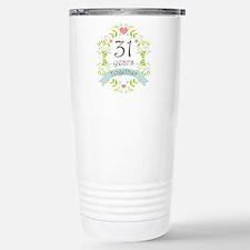 31st Anniversary flower Travel Mug