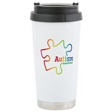 Rainbow Gradient Autism Travel Mug