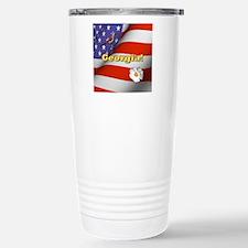 Georgia with American F Travel Mug