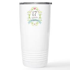 17th Anniversary flower Travel Mug