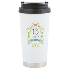13th Anniversary flower Travel Mug