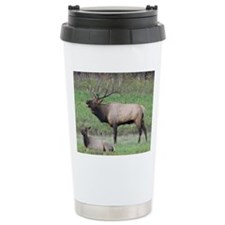 Bull Elk Travel Coffee Mug