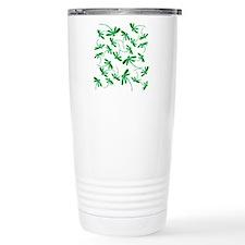Dragonflies Neon Green Travel Mug