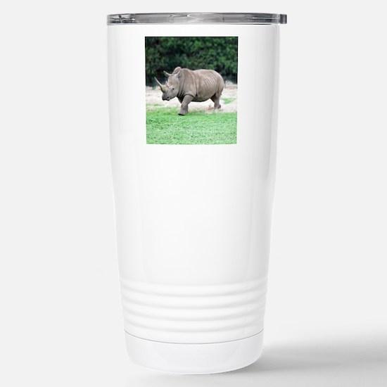 Rhinoceros with Huge Ho Stainless Steel Travel Mug