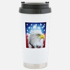 America eagle flag  Travel Mug