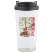 vintage scripts  paris  Travel Mug