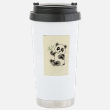 Embroidered Panda Travel Mug