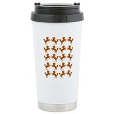 Prancing Horses in Brow Travel Coffee Mug