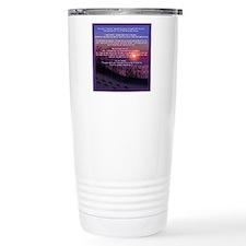 Footprints in the Sand Travel Coffee Mug