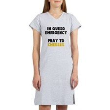 Queso Emergency Cheeses Women's Nightshirt