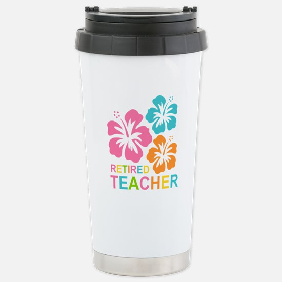Hibiscus Retired Teache Stainless Steel Travel Mug