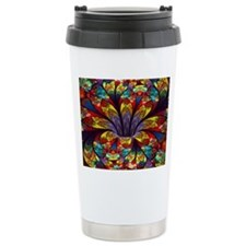 Fractal Stained Glass B Travel Coffee Mug