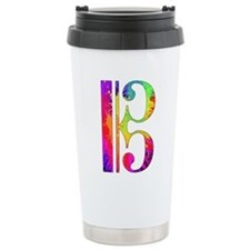 Colorful Alto Clef Travel Mug