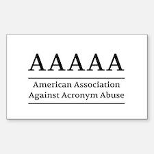 American Association Against Acronym Abuse Decal