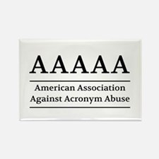 American Association Against Acronym Abuse Magnets