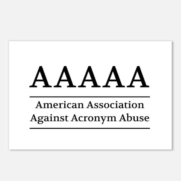 American Association Against Acronym Abuse Postcar