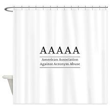 American Association Against Acronym Abuse Shower