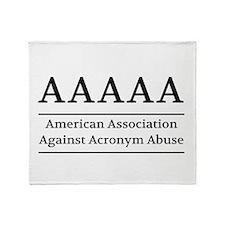American Association Against Acronym Abuse Throw B
