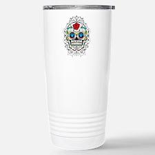 Colorful Retro Sugar Sk Travel Mug